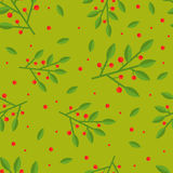 Cowberry seamless pattern. Cute and simple cowberry seamless pattern. Flat style Royalty Free Stock Photo