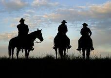 Cowbot Schattenbild lizenzfreies stockfoto