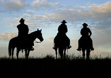 cowbot sylwetka Zdjęcie Royalty Free