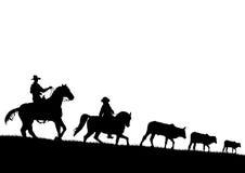Cowboy. High details illustration of cowboy royalty free illustration