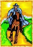 Cowboy. ilustração do vetor