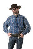Cowboy. Middle aged man in a cowboy hat Stock Photo