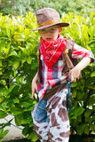 Cowboy. Young boy dressed up as a cowboy stock photo