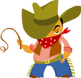 Cowboy. Illustration of the cowboy, vector, on the withe background Stock Photo