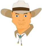 Cowboy. A cowboy from texas wearing a hat Royalty Free Stock Photo