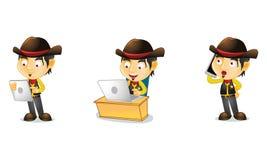 Cowboy 3 stock abbildung