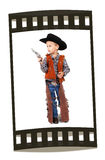 Cowboy. A little boy dressed up as a cowboy stock photo