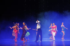 Cowboy action-the Austria's world Dance Stock Photos