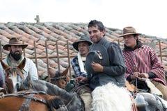 Cowboy all'aperto nell'Ecuador Fotografia Stock Libera da Diritti
