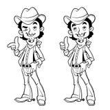 Cowboy allegro profilo Fotografie Stock Libere da Diritti