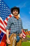 Cowboy americano Fotografia Stock Libera da Diritti