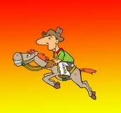 Cowboy & um cavalo Imagens de Stock