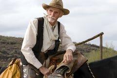 Cowboy américain occidental de vieux Cowhand Photographie stock libre de droits