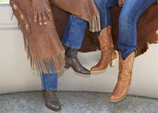 Cowboy And Cowgirl Stock Photography