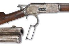 Cowboy antico anziano Rifle Immagini Stock