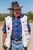 Cowboy anziano Character di selvaggi West fotografie stock libere da diritti