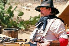 Cowboy anziano di selvaggi West fotografia stock libera da diritti