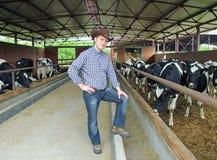 Cowboy auf Bauernhof Stockbilder