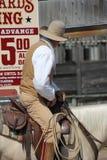 Cowboy auf Pferd Stockbild