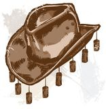 A cowboy or Australian style hat Stock Images