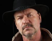 Cowboy avec l'assiette Photo libre de droits