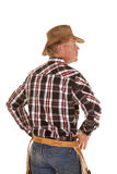 Cowboy from back close look side Stock Photos
