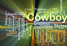 Cowboy background concept glowing Stock Photography