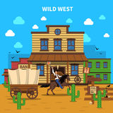 Cowboy Background Illustration Illustration Stock
