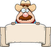 Cowboy Banner Royalty Free Stock Photo