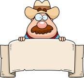 Cowboy Banner Royalty Free Stock Photo