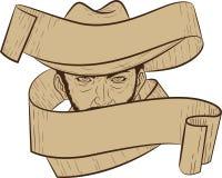 Cowboy Banner Arkivbild