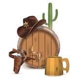 Cowboy Bar Concept di vettore Illustrazione di Stock