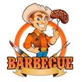 Cowboy Barbecue Chef illustration libre de droits