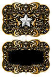 Cowboy belt buckle design II Stock Photography