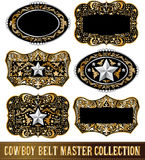 Cowboy belt buckle vector collection set design Stock Photos