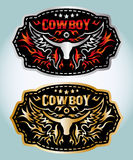 Cowboy belt buckle vector design Stock Photography