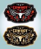 Cowboy belt buckle vector design Stock Photography