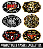 Cowboy belt buckle vector master collection set design Stock Photos