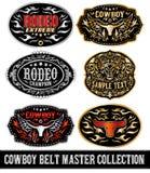 Cowboy belt buckle vector master collection set design Stock Photos