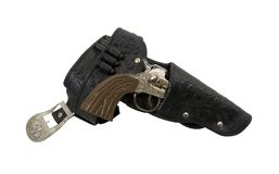 Cowboy Belt and Gun Royalty Free Stock Photography