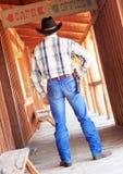 Cowboy betriebsbereit zu zeichnen Lizenzfreie Stockfotos