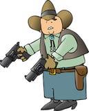 Cowboy With Big Guns Royalty Free Stock Photos