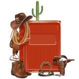 Cowboy Book di vettore illustrazione di stock