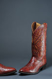 Cowboy Boot. Ornate leather tooled cowboy boots Royalty Free Stock Photography