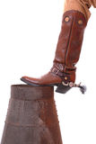 Cowboy Boot On Can Stock Photos