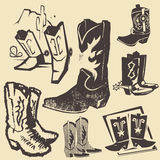 Cowboy Boot Collection Royalty Free Stock Image