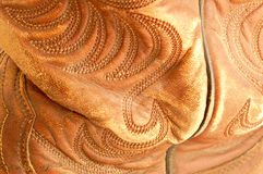 Cowboy Boot Detail. Details of a worn cowboy boot. Shallow depth of field Royalty Free Stock Photo