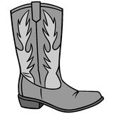 Cowboy Boot Illustration stock illustrationer