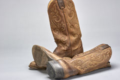 Cowboy boot. Pair of traditional cowboy boots worn for western horsemanship stock photos