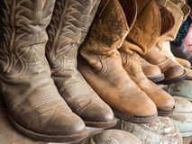 Cowboy boot. On the shelf stock image